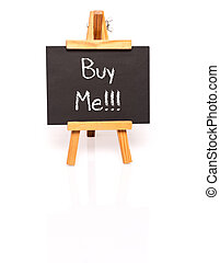 Buy Me Blackboard with text and easel - Buy me Blackboard...