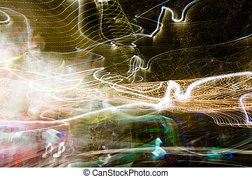 Light painting - Painting with light using the multicolored...
