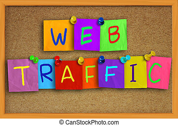 Web Traffic Internet Concept - Internet concept image of the...