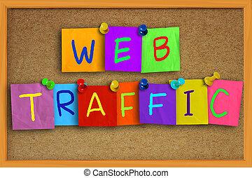web, verkehr, Internet, begriff,