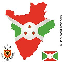 Burundi Flag - Flag and national coat of arms of the...