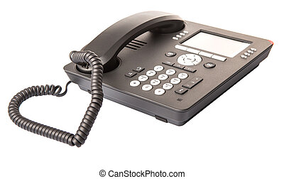 Modern Desktop Telephone - Modern desktop telephone over...