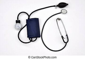 sphygmomanometer - Blood pressure cuff and stethoscope
