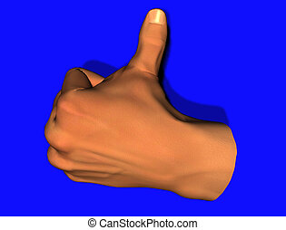 thumbs up - left hand giving thumbs up sign