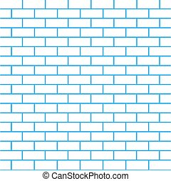 Brick wall background, vector