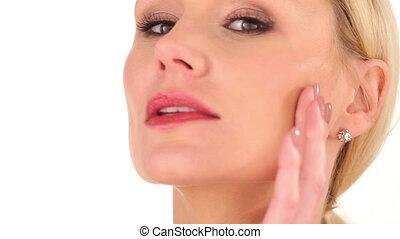 Close up Serious Woman Face