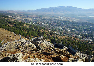 Viewpoint - View from viewpoint near Kiryat Shemona, Israel...