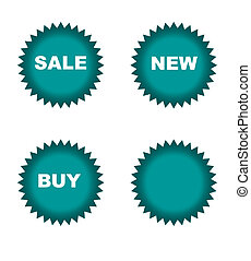 Retail sale stickers - Colorful star shaped retails stickers...