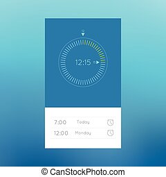 Ui clock for web and mobile applications.