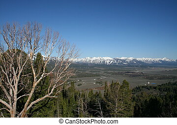 Idaho Landscape - Landscape in Idaho with Sawtooth Mountains...