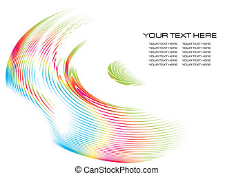 Vector fractal background - Abstract fractal background with...
