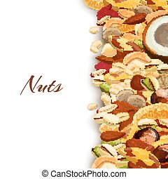 Nuts Mix Background - Nuts mix with peanut hazelnut...