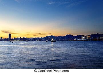 Hong Kong Sunset - Hong Kong kowloon city Sunset