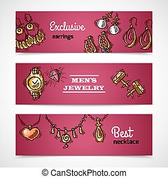Jewelry Banners Set