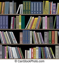 Books on shelves seamless - Books on shelves as seamless...