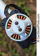 Electric motor of a small size close up