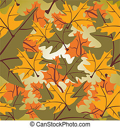 Seamless maple leaf background