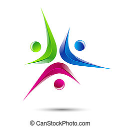 logo element Abstract people icon Design - Design vector...