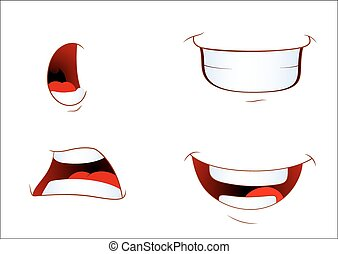 Set of Laughing Mouth Expressions
