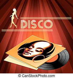 Disco club poster design - Disco club or disco party poster...