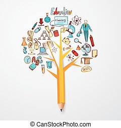 Education Doodle Concept - Education doodle concept with...
