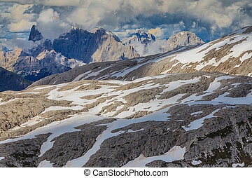 Dolomite Alps, Italy - Rosetta Mountain in the Pale of San...