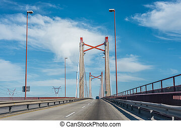 Zarate Brazo Largo Bridge, Entre Rios, Argentina - The...
