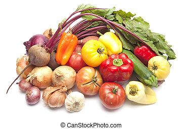新鮮, 蔬菜, 有机, 夏天