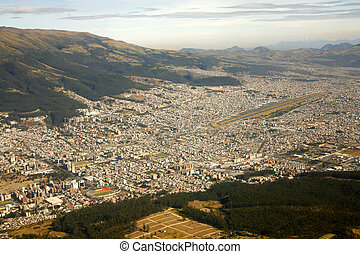 Aerial view of Quito, Ecuador - Quito, Ecuador
