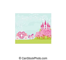 beautiful fairytale pink castle