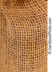 Natural burlap linen texture for background
