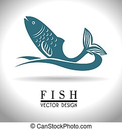 Seafood design, vector illustration - Seafood design over...