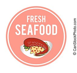Seafood design, vector illustration.