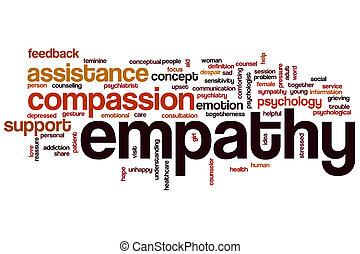 Empatía, palabra, nube,