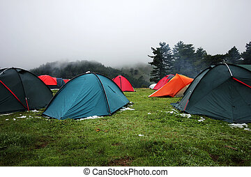 acampamento,