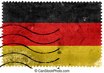 Germany Flag - old postage stamp