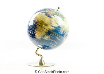 World globe spinning - Globe of the world spinning isolated...