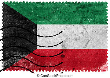 Kuwait Flag - old postage stamp