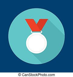 Silvermedal with red ribbon - Silver medal with red ribbon a...