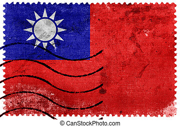 Taiwan Flag - old postage stamp