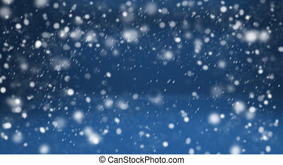 Winter blue background and snow - Winter blue background...