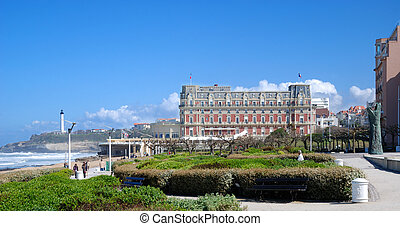 View of Biarritz with Eugenie Palace - Famous hotel of...