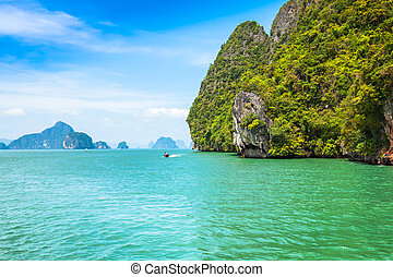 Island Phang Nga, Thailand - Beautiful scenery of Phang Nga...