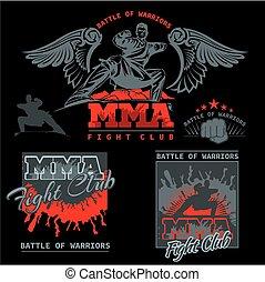 MMA Labels - Vector Mixed Martial Arts Design - MMA Fight...