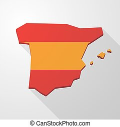 Spain map icon - Illustration of a Spain map icon