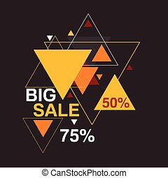 Big sale 50, 75 percent - Abstract background with hipster...
