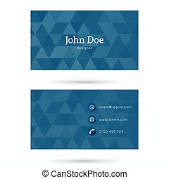 Business card template - Business card or visiting card...