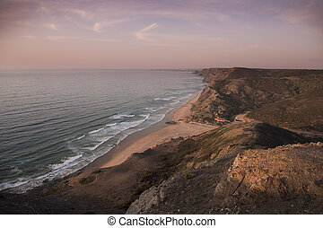 Coast and beach at Sagres Algarve - Coast and beach at...