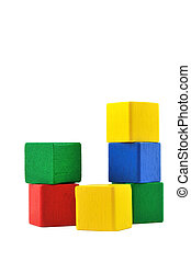Wooden Building Blocks - Wooden building blocks toy for...