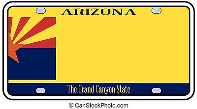 Arizona State License Plate - Arizona state license plate in...